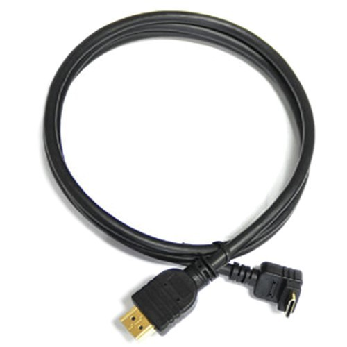 CABLE MINI HDMI coudé  / HDMI 0.7 m HASN07CRB CINEROID