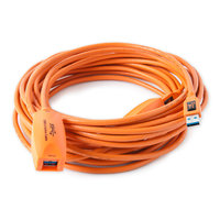CABLE Rallonge active USB 3 Tethertools (5m) Orange