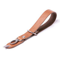 Dragonne Wrist Strap RAZOR CUT  BARBER SHOP Cuir grainé marron BBS-RC-4
