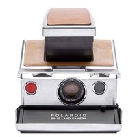 BOITIER POLAROID SX-70 SILVER BROWN RECOND.