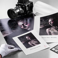 PAPIER HAHNEMUHLE PHOTO RAG METALLIC 340GRS A3 25f