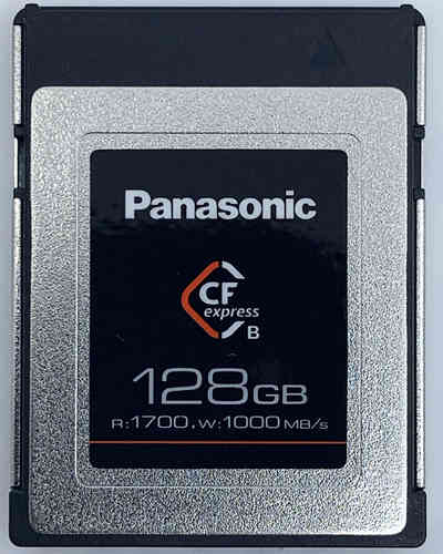 CARTE CF EXPRESS PANASONIC 128GO W1000MB/S